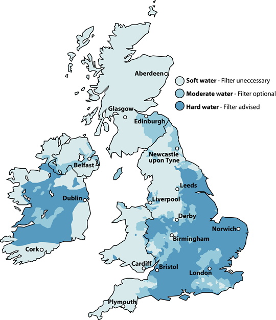 Hard Water map