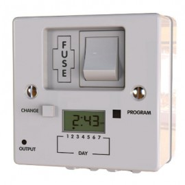 7 day fused spur digital timer switch