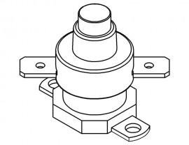 Manual reset thermal cutout