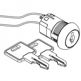 Key switch for Eclipse Push Button boilers (replacement version)