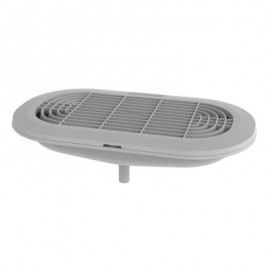 Grey moulded Drip Tray with Drain